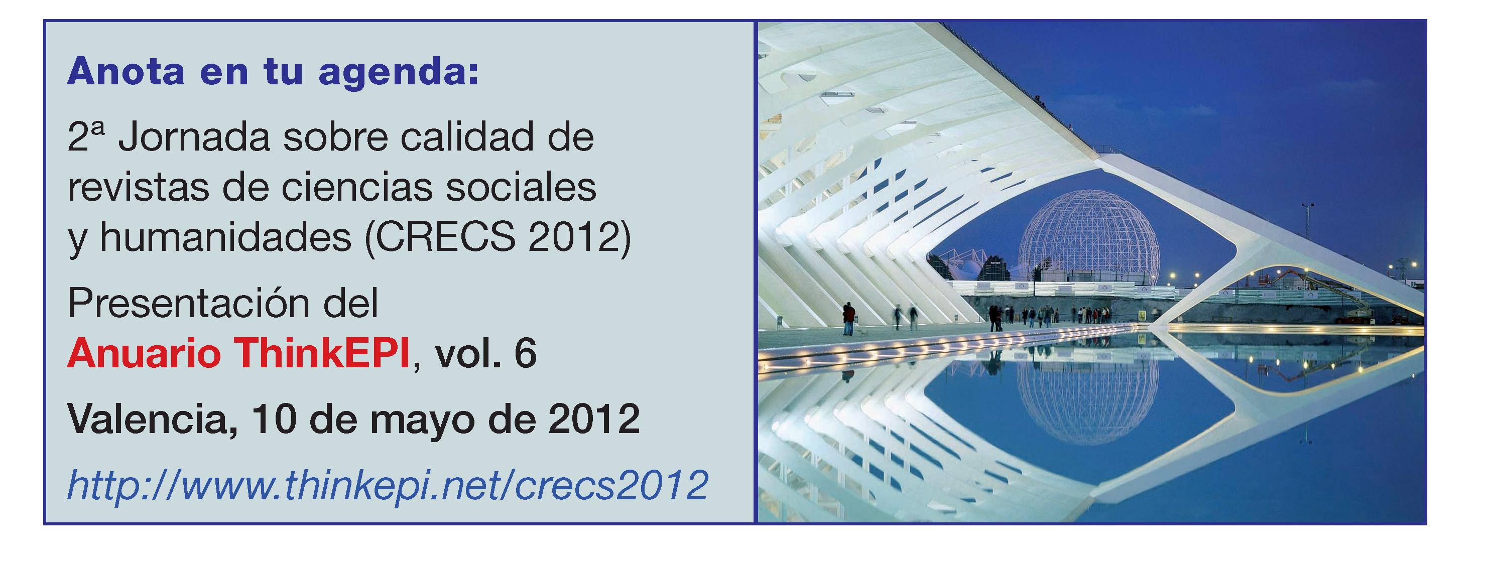 Anuncio preliminar del Congreso CRECS 2 (Valencia, 2012)