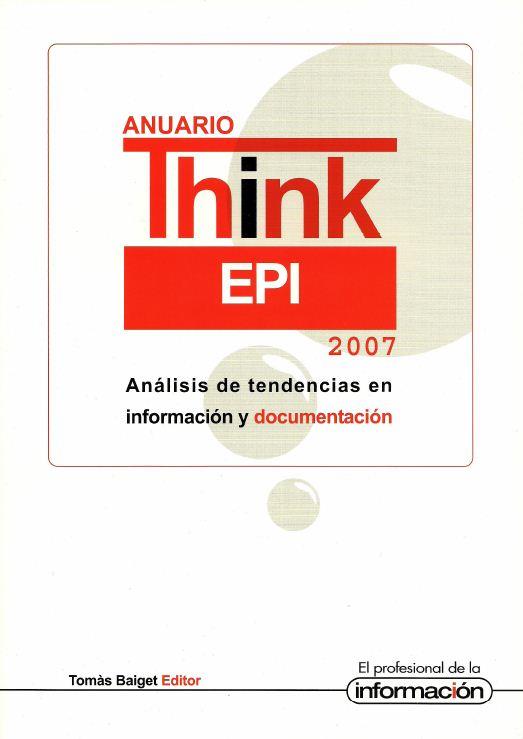 Anuario ThinkEPI 2007 - Portada