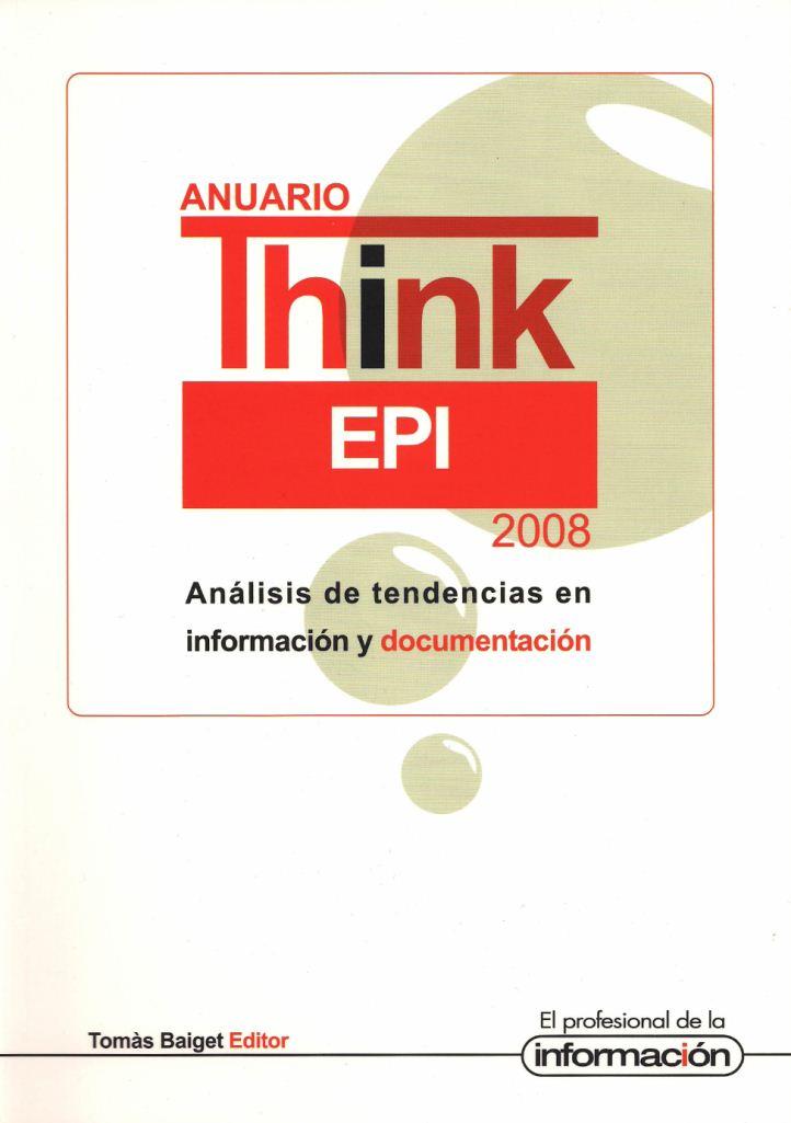 Anuario ThinkEPI 2008 - Portada