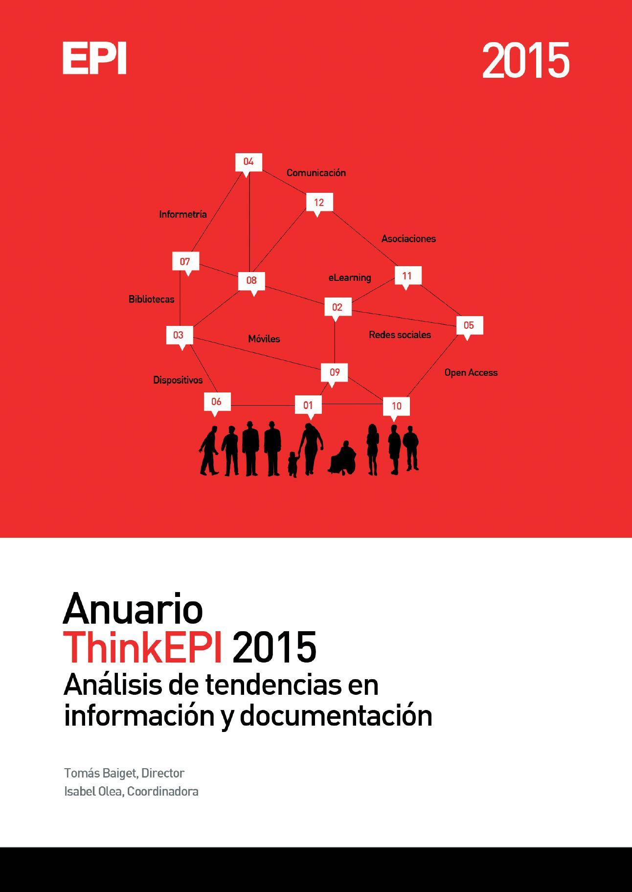 Anuario ThinkEPI 2015 - Portada