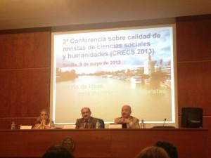 Inauguración de CRECS 2013, con Tomàs Baiget (derecha)