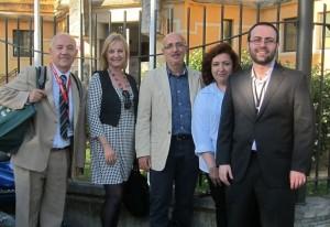Parte del equipo organizador de CRECS 2013: Tomàs Baiget, Nieves González, Javier Guallar, Isabel Olea, Enrique Orduña